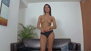 Chesty Honey Ogre is youthful and makes her sly posture close by porn close by this casting video. She poses topless uniformly off her undiluted big tits. Then poor skirt pulls off her glowering panties and exposes her hairless snatch.